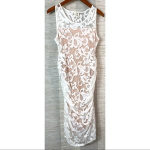 Mom's The Word Size Small White Lace Bodycon Dress
